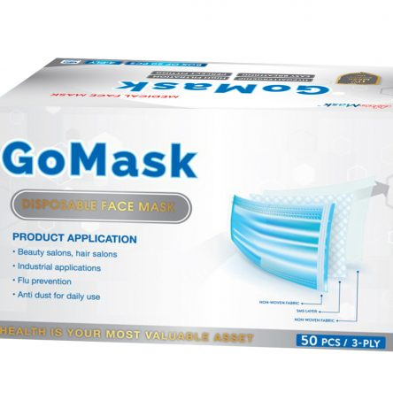 DISPOSABLE FACE MASK – 3 PLY – GO MASK