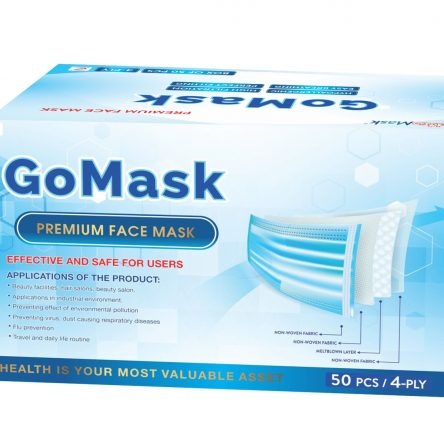 PREMIUM FACE MASK – 4 PLY – GO MASK