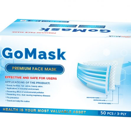 PREMIUM FACE MASK – 3 PLY – GO MASK